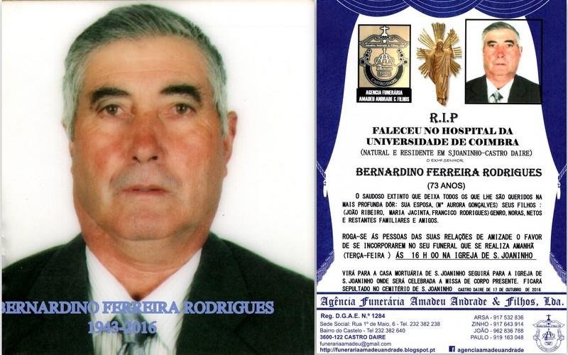 RIP3-BERNARDINO FERREIRA RODRIGUES-73 ANOS (S.JOAN
