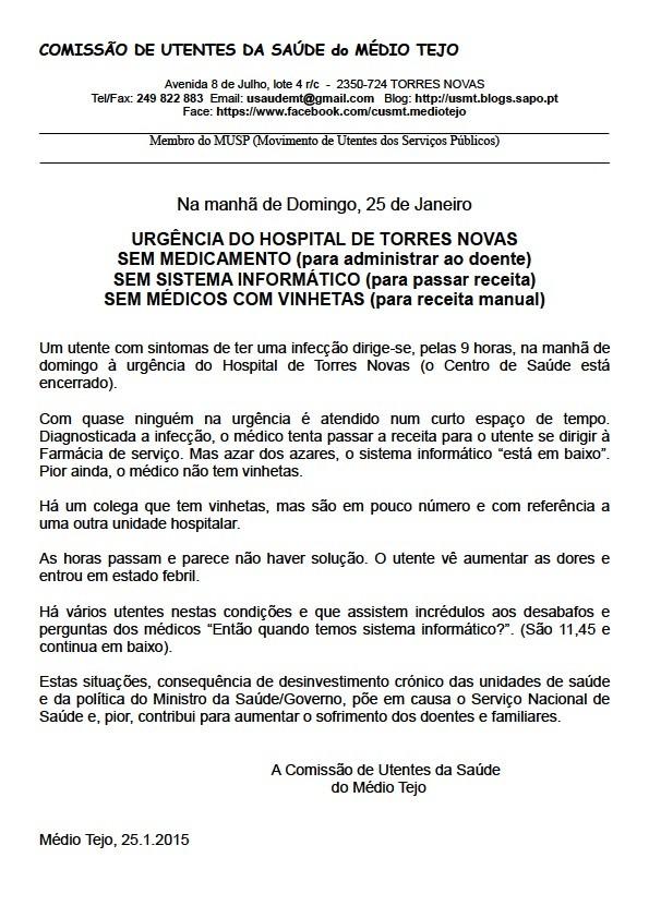 Urgência H Torres Novas 2015-01-25