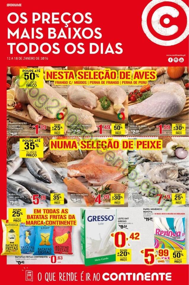 Antevisão Folheto CONTINENTE Promoções de 12 a