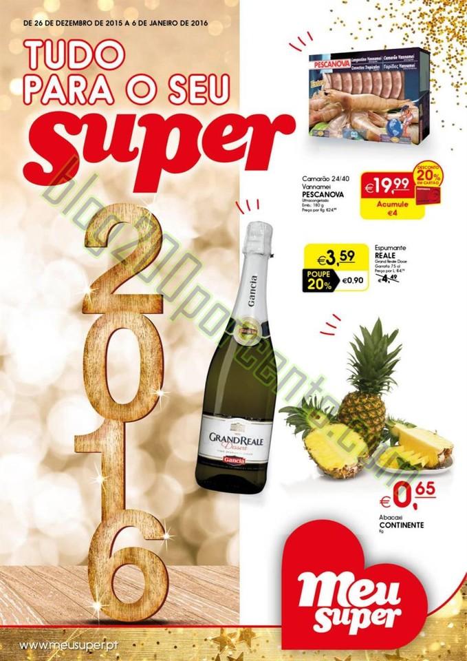 Novo Folheto MEU SUPER Ano Novo Promoções até 6