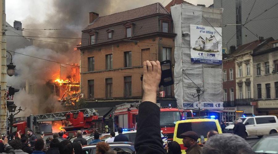 Explosão de prédio, Bruxelas (Gilles Martin, 2017)