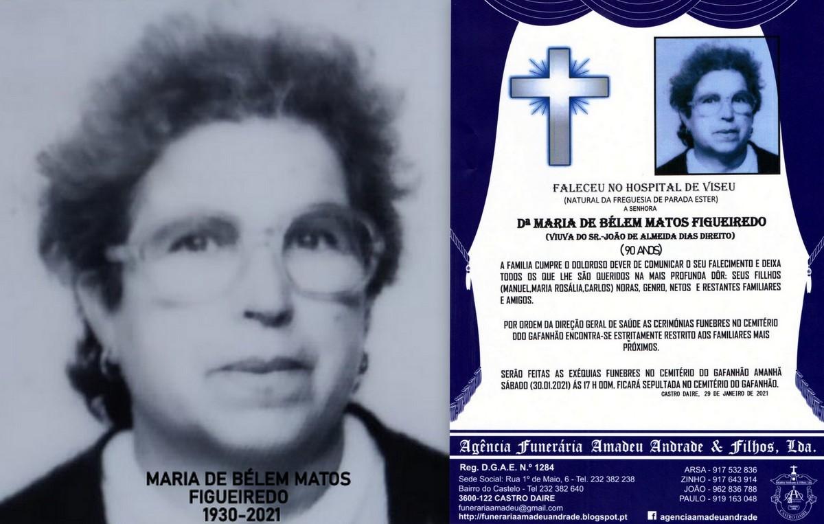 FOTO RIP DE MARIA DE BÉLEM MATOS FIGUEIREDO-90 AN