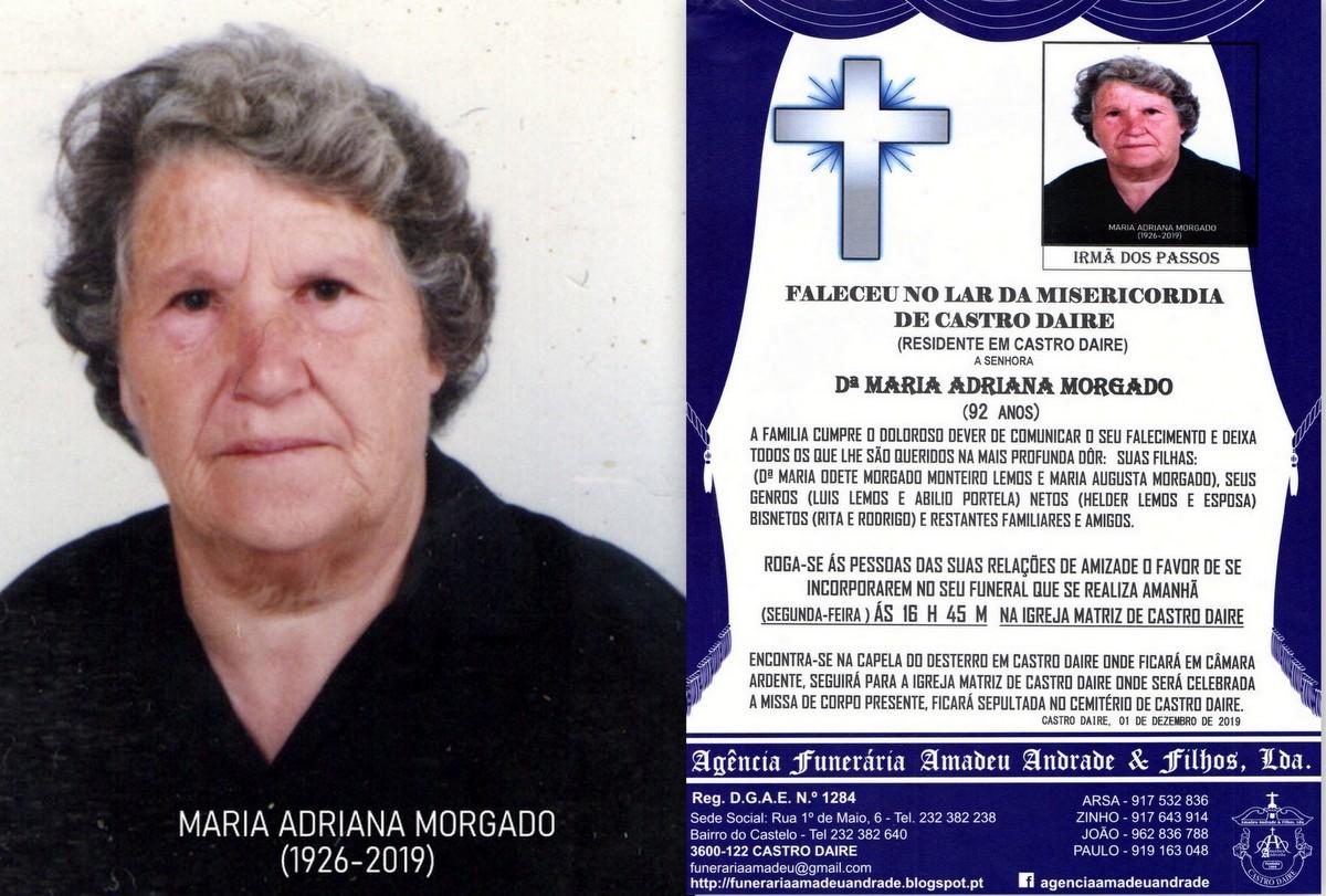 FOTO RIP  DE MARIA ADRIANA MORGADO-92 ANOS (CASTRO