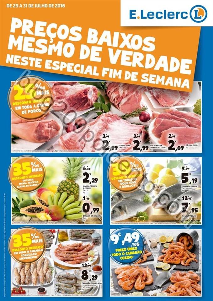Antevisão Folheto E-LECLERC Fim de semana de 29 a