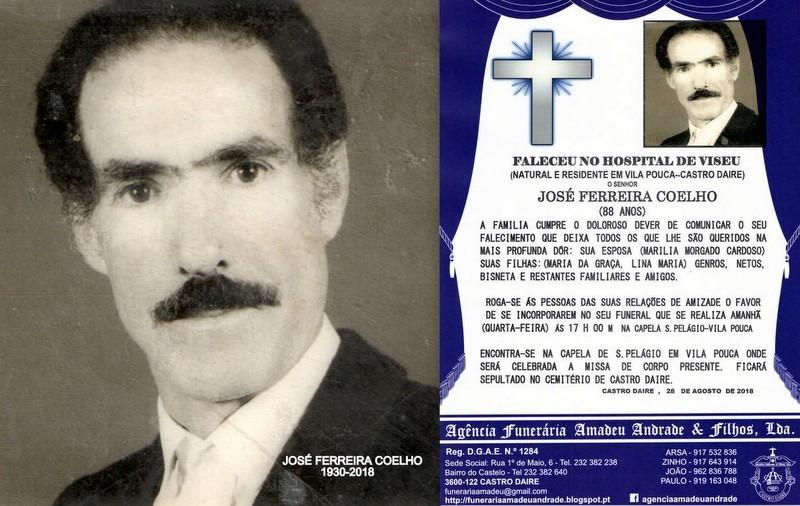 FOTO RIP-DE JOSÉ FERREIRA COELHO   -88 ANOS (VILA