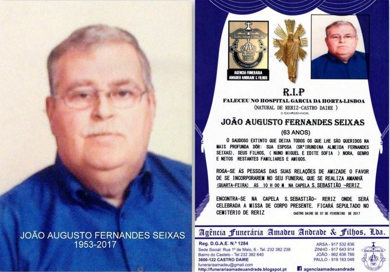 RIIP-FOTO JOÃO AUGUSTO FERNANDES SEIXAS3-63 ANOS(