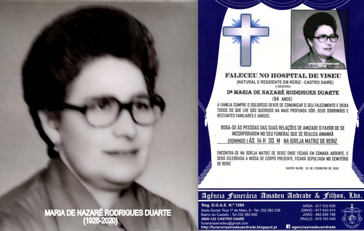 FOTO RIP DE MARIA DA NAZARÉ RODRIGUES DUARTE -94