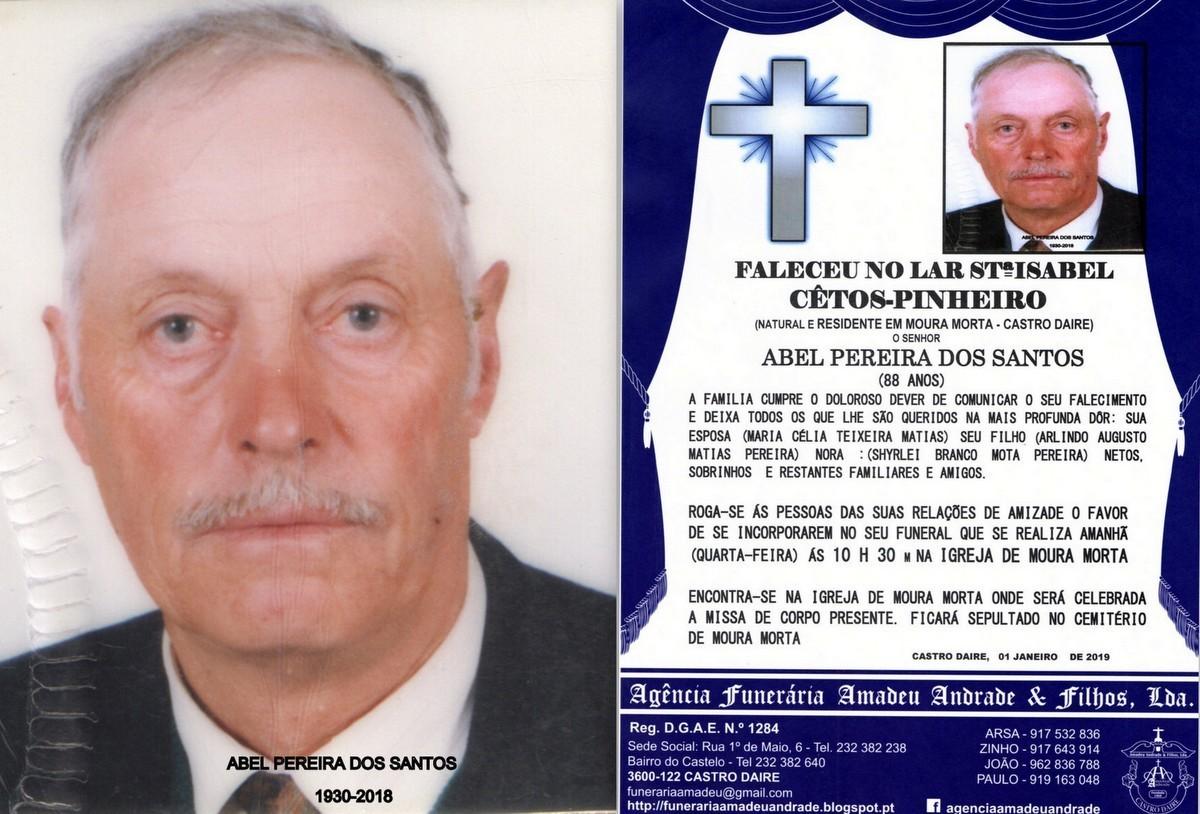 FOTO RIP- DE ABEL PEREIRA DOS SANTOS -88 ANOS (MOU