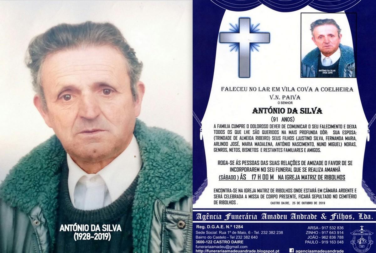 FOTO RIP  DE ANTÓNIO DA SILVA-91 ANOS (RIBOLHOS).