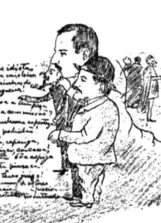 Antonio Horta (Alte), Duarte Praia (marquês da Praia), Antonio Lagoaça (conde de Lagoaça), in Nivel Academico, p. 3, apud Trindade Coelho, «In Illo Tempore», Aillaud, Paris-Lisboa, 1902, p. 141.