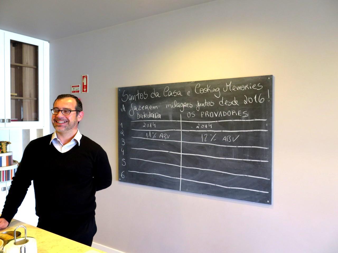 Manuel Moreira entusiasmado com a prova cega