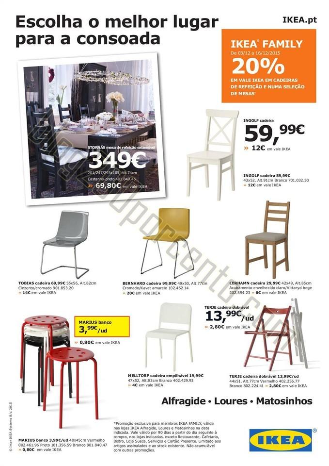 20% de desconto IKEA Promoções de 3 a 16 dezembr