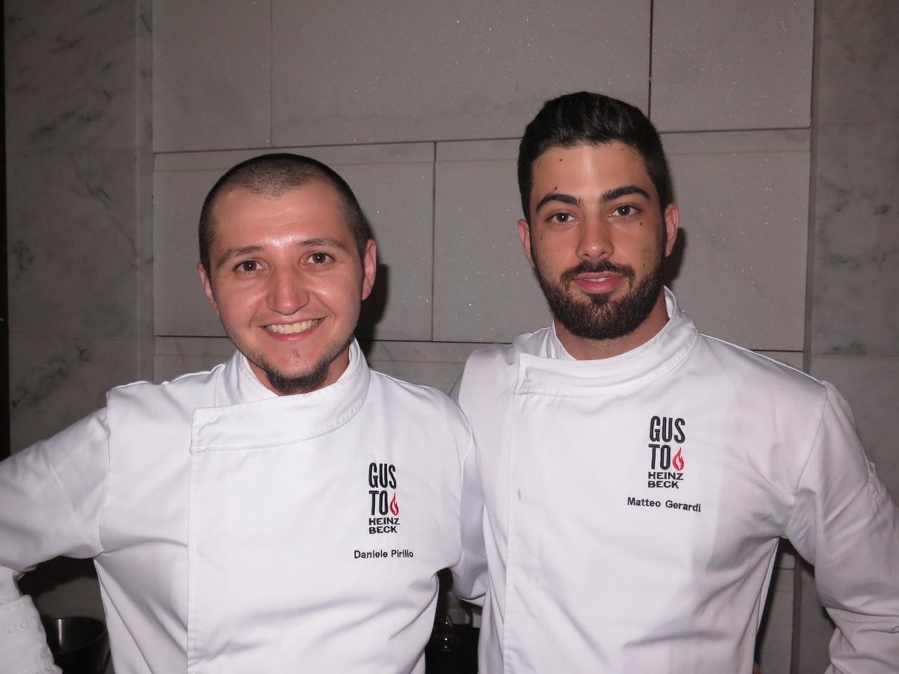 Chef Executivo Daniele Pirillo e Sub-Chef Matteo Gerardi