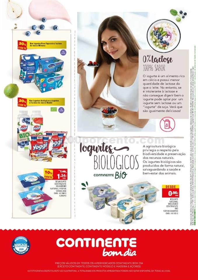 Antevisão Folheto Continente Iogurtes 9 a 28 junh