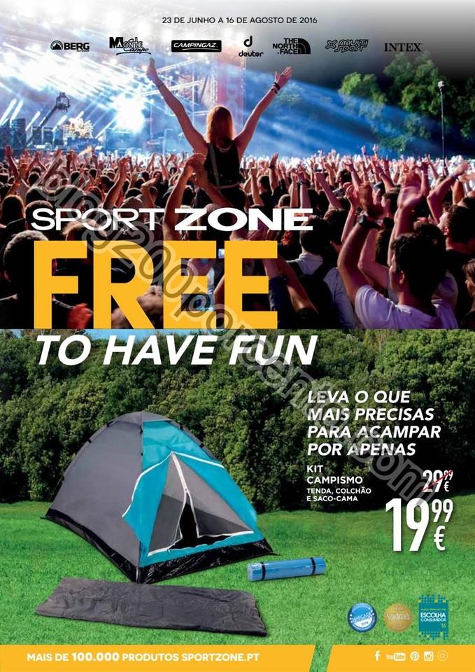 Novo Folheto SPORT ZONE Promoções até 16 agosto