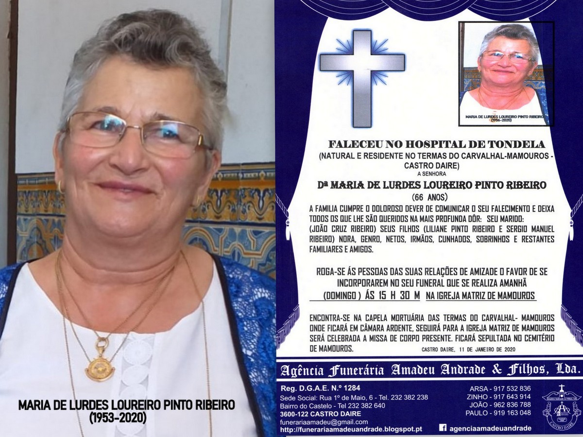 RIP FOTO NOVO -MARIA DE LURDES LOUREIRO PINTO RIBE