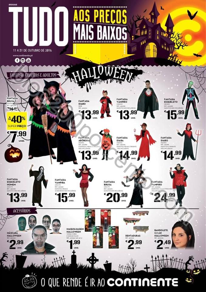 Antevisão Folheto CONTINENTE Halloween promoçõe