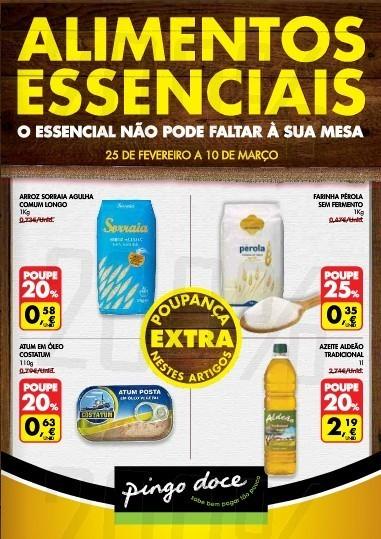 Novo folheto   PINGO DOCE   Alimentos essenciais de 25 fevereiro a 10 março