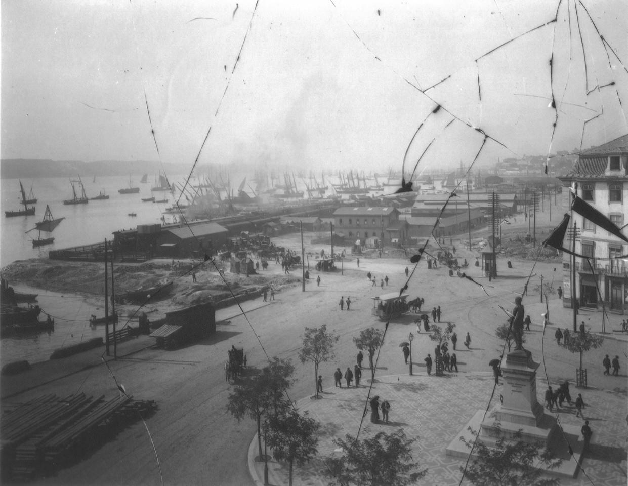 Cais do Sodré, Lisboa, (Col. Seixas, post 1894)