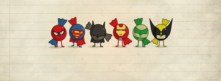 Spider-Man-Superman-Iron-Man-Wolverine-Green-Lante