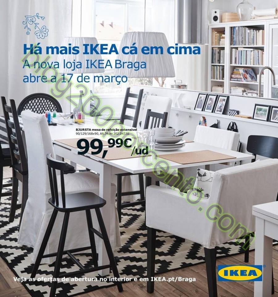 Antevisão Folheto IKEA Abertura Braga a partir de
