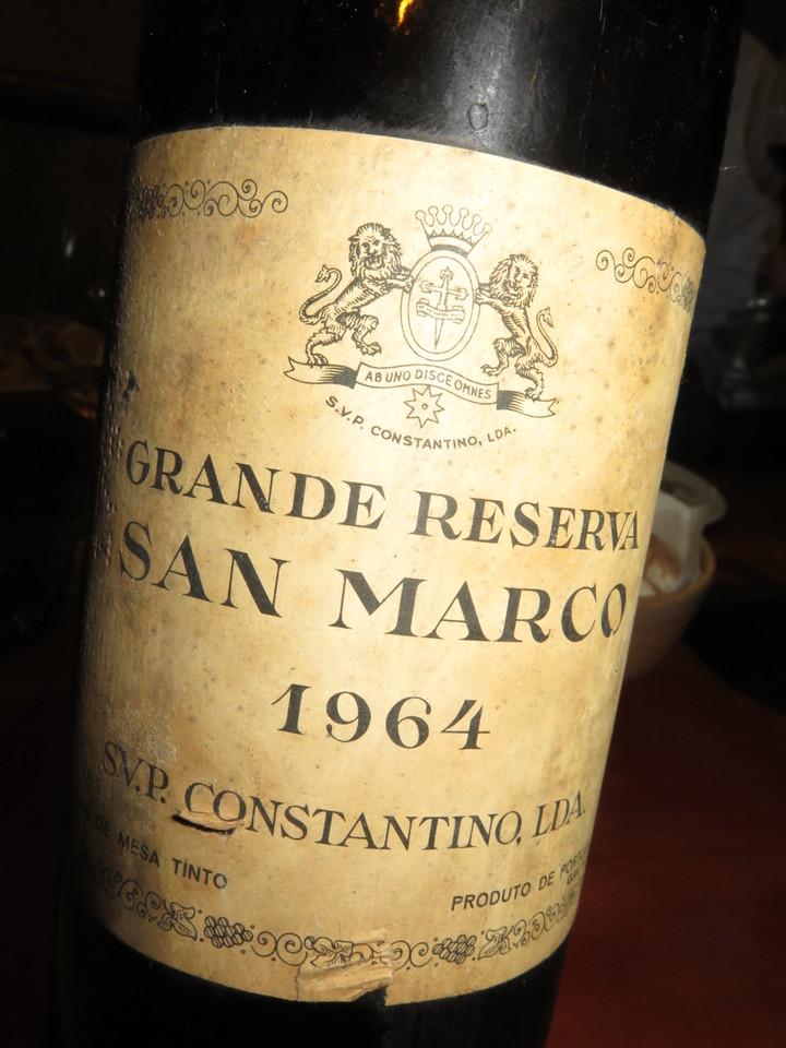 San Marco, Grande Reserva, tinto, 1964