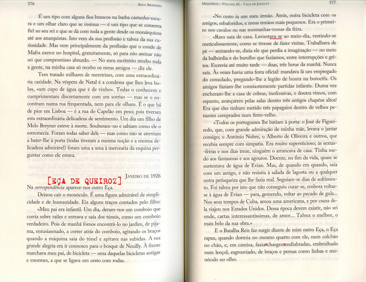Raul Brandão, «Memórias», Quetzal, 2017, pp. 576-577.