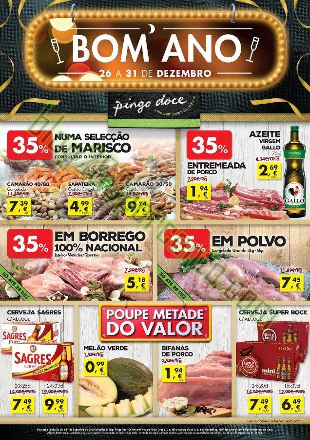 Antevisão Folheto PINGO DOCE Ano Novo de 26 a 31