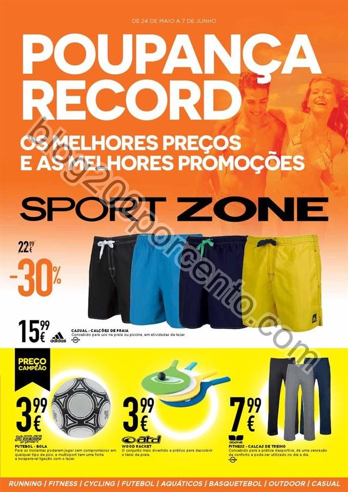 Antevisão Folheto SPORT ZONE Promoções de 24 ma