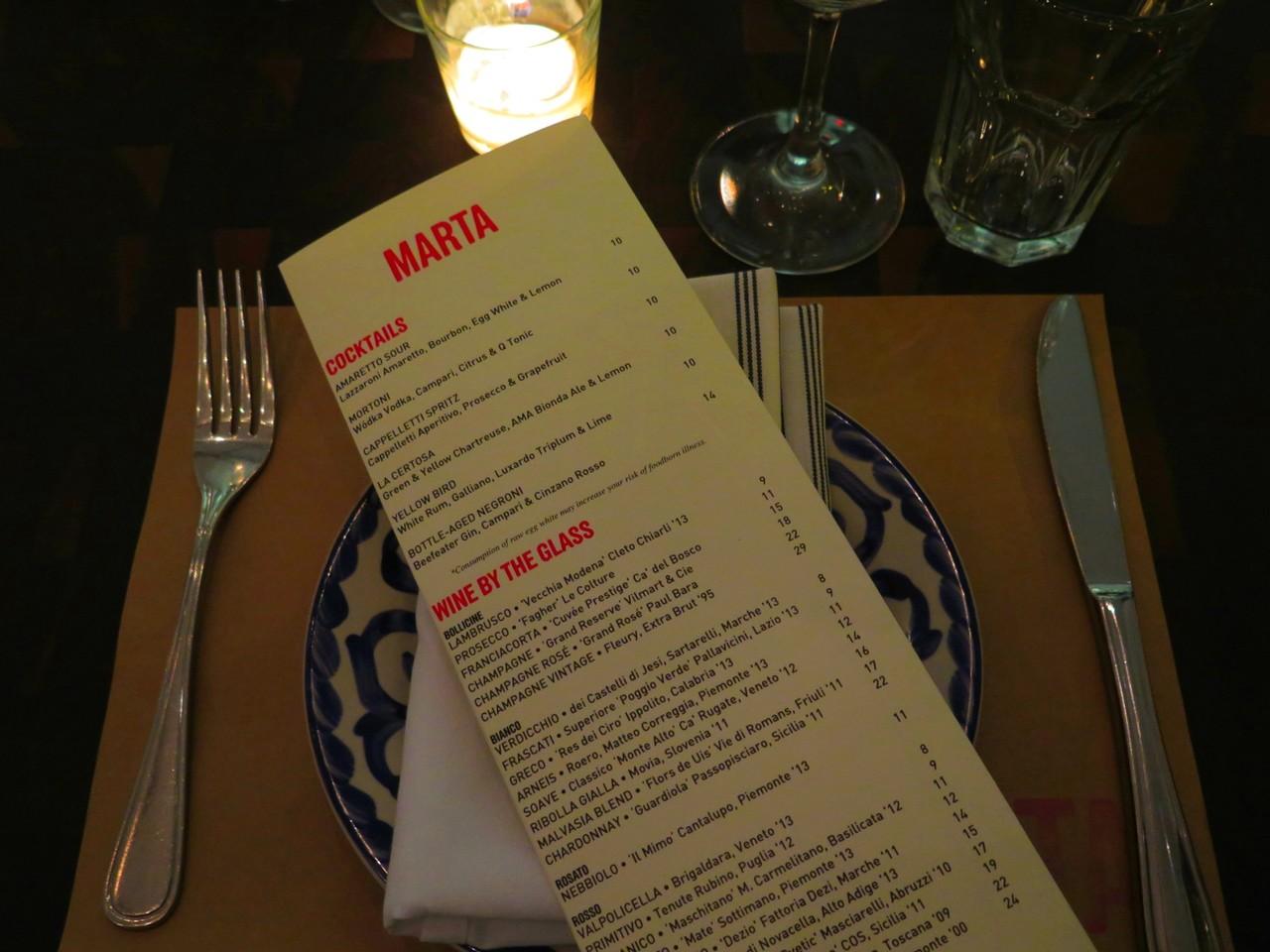 mesa... na pizzaria MARTA