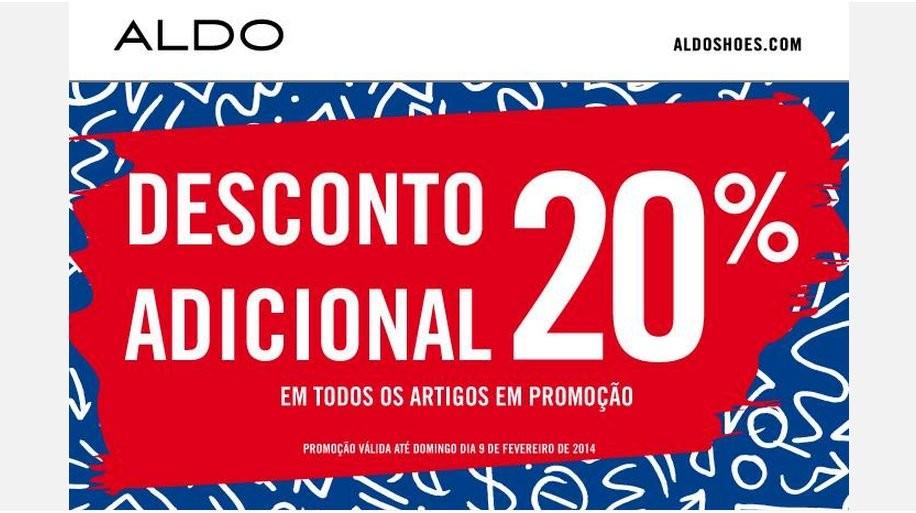 20% desconto adicional | ALDO | até 9 fevereiro