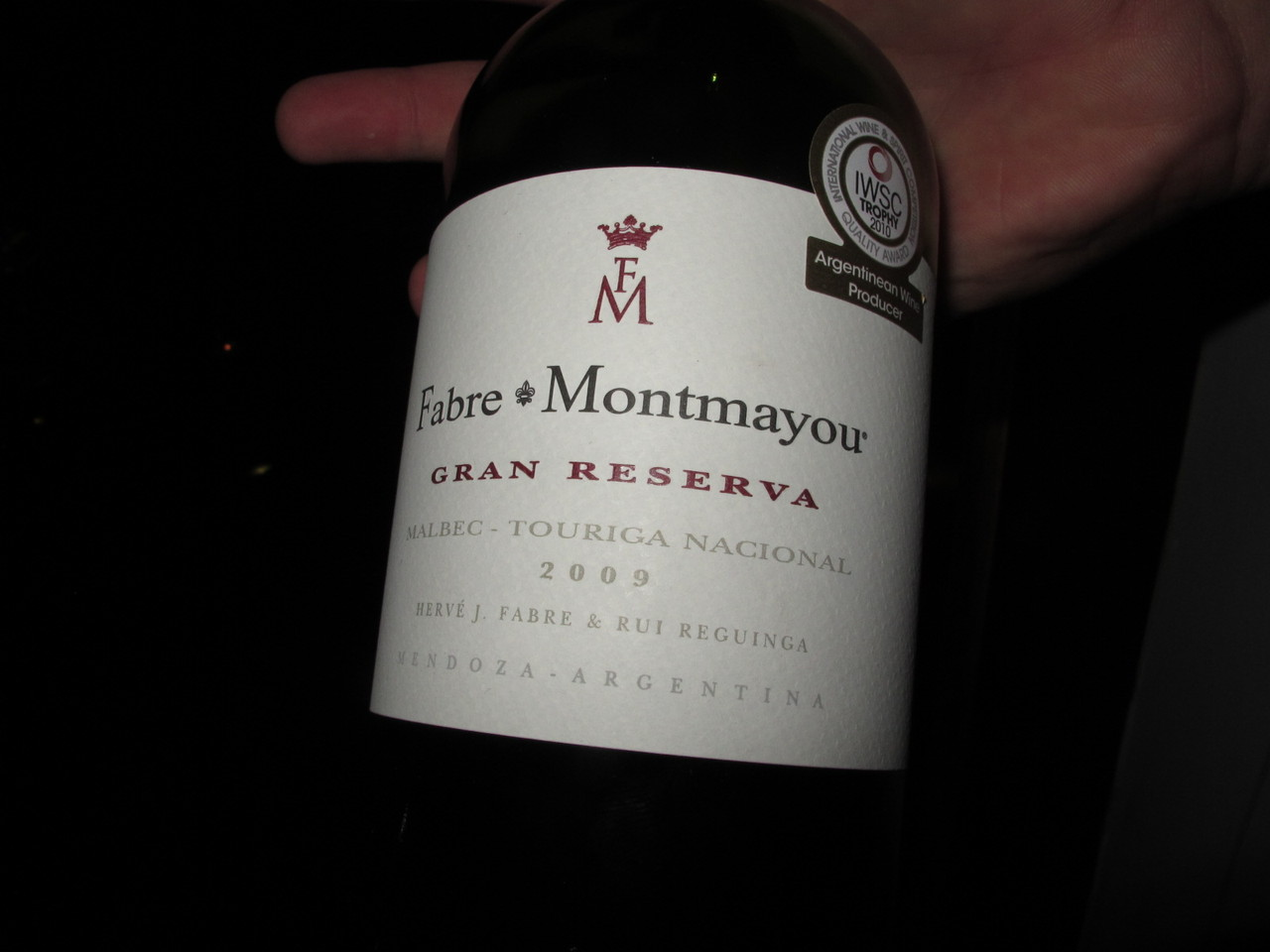 Grande vinho no VOLVER