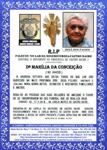 RIP- DE MARILIA DA CONCEIÇÃO-90 ANOS (CASTRO DAI