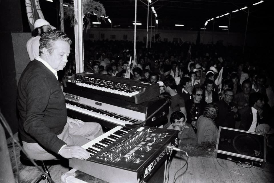 Músico ensaiando o concerto, Ribatejo (M. Valentim, 1976)
