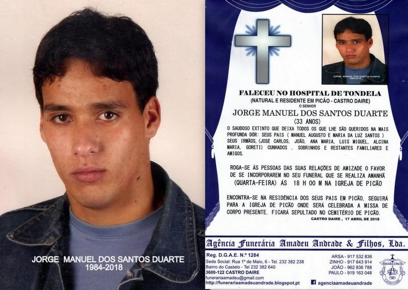 RIP-FOTO DE JORGE MANUEL DOS SANTOS DUARTE-33 ANOS