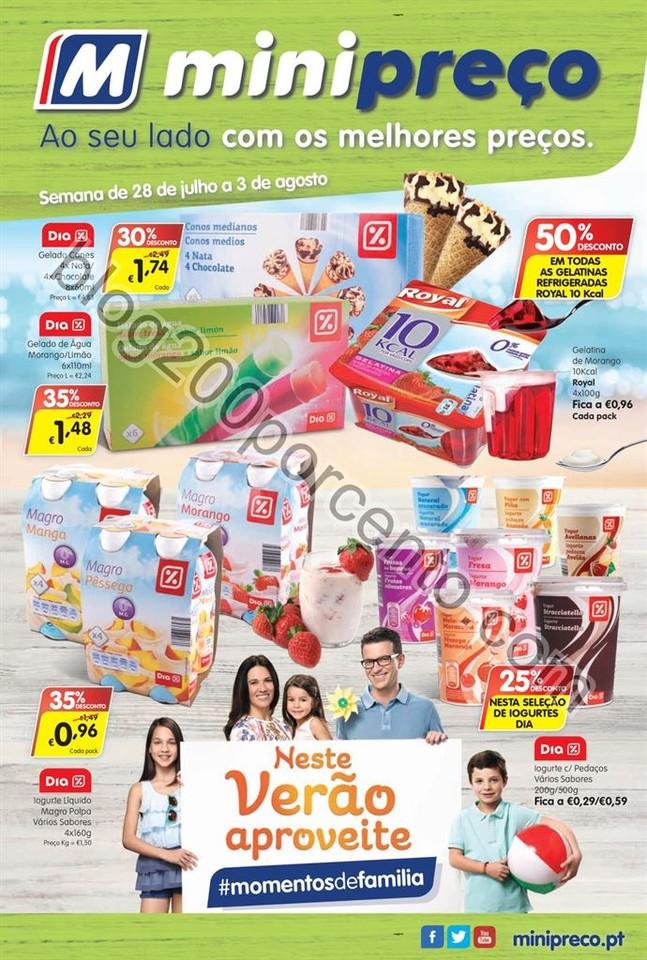Antevisão Folheto MINIPREÇO promoções de 28 ju