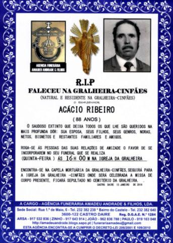 RIP- DE ACÁCIO RIBEIRO-88 ANOS (GRALHEIRA-CINFÃE