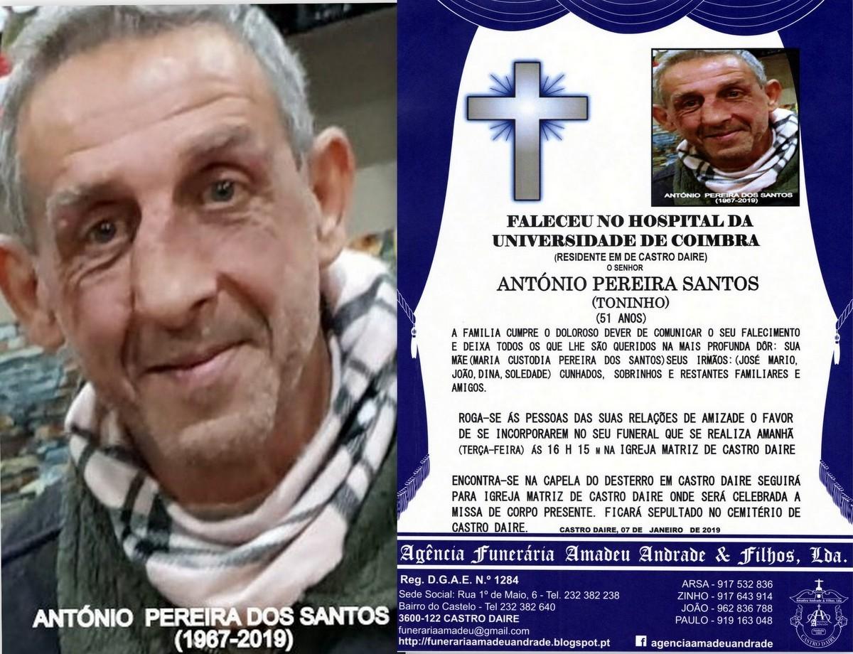 FOTO RIP  DE ANTÓNIO PEREIRA DOS SANTOS -51 ANOS