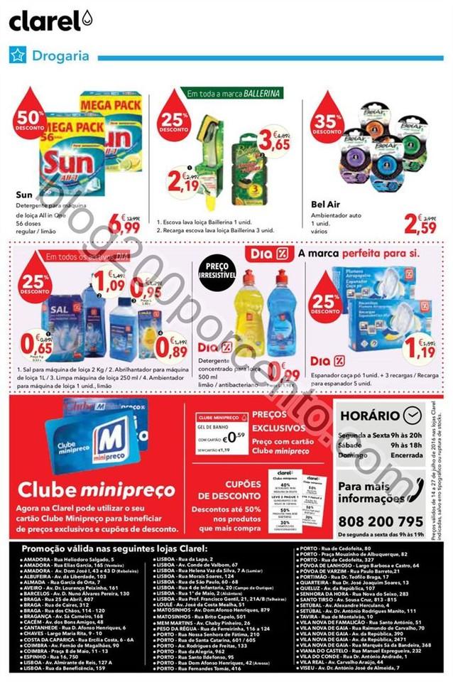 Antevisão Folheto CLAREL Promoções de 14 a 27 j