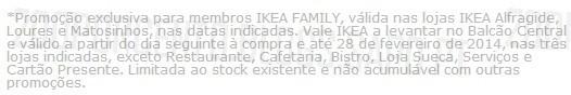 20% de desconto   IKEA  , de 25 Outubro a 3 Novembro, 20% (vale)* em todos os tapetes, exclusivo membros IKEA