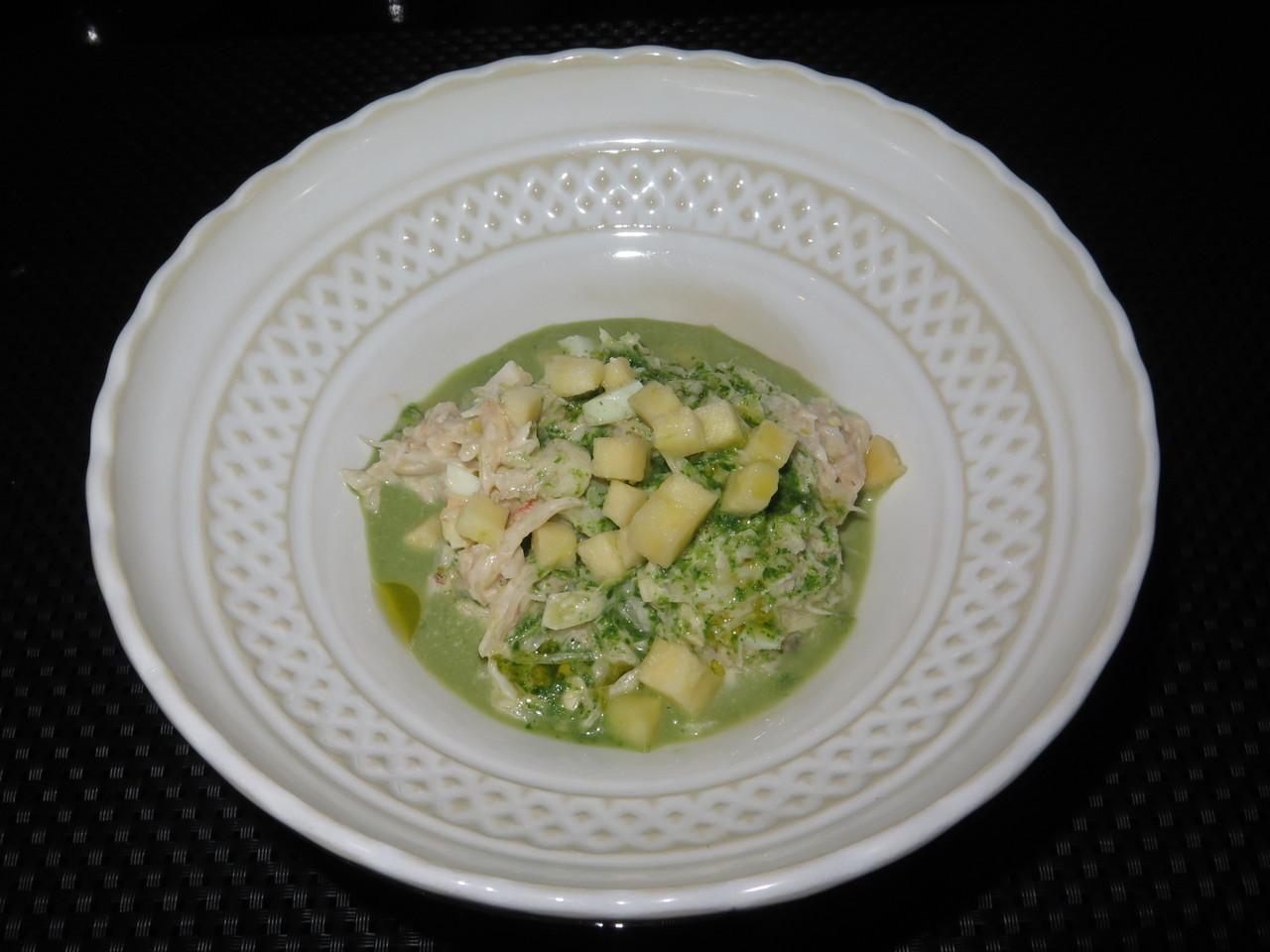 Salada de sapateira com maçã