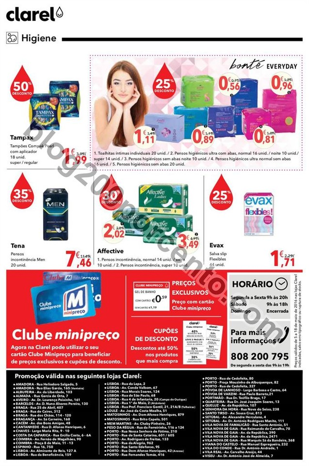 Antevisão Folheto CLAREL promoções de 5 a 18 ma