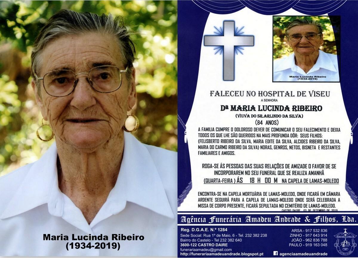 FOTO RIP DE MARIA LUCINDA RIBEIRO-84 ANOS (lamas).