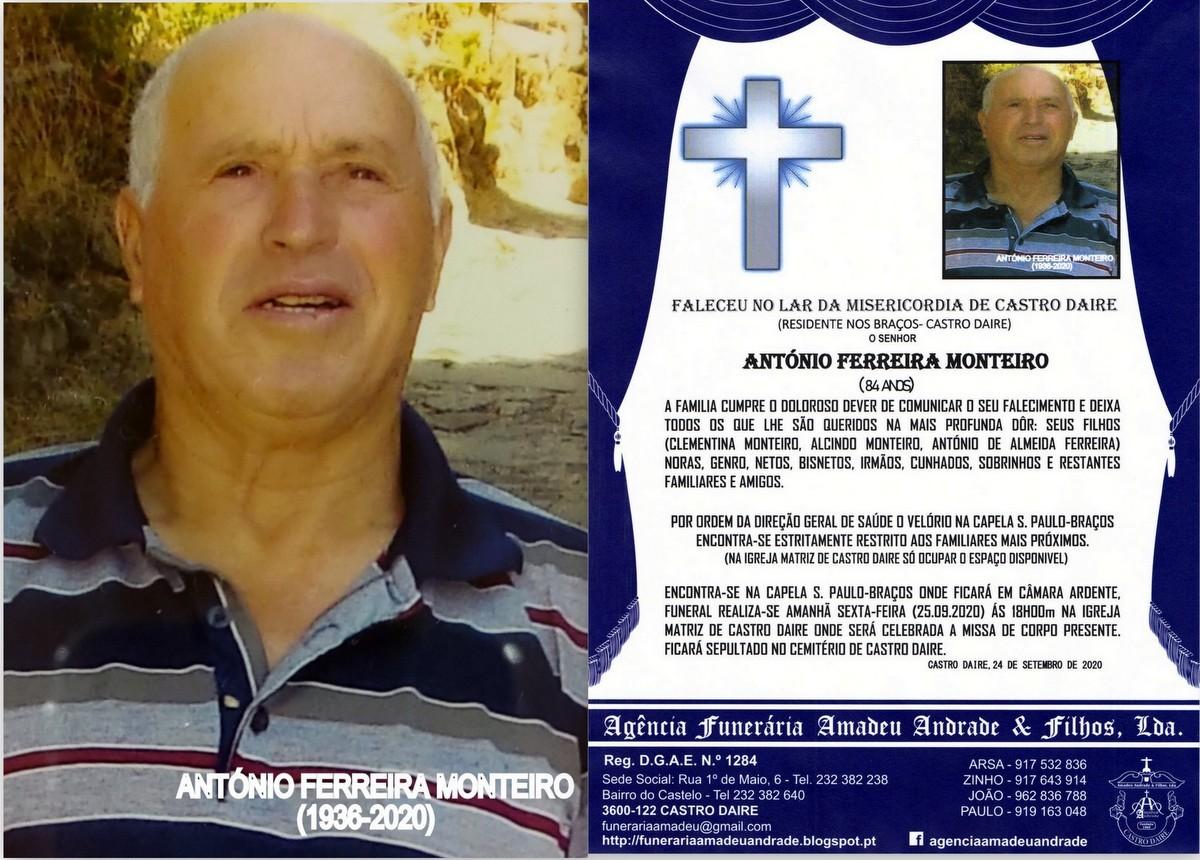 FOTO RIP DE ANTÓNIO FERREIRA MONTEIRO 84 ANOS (BR