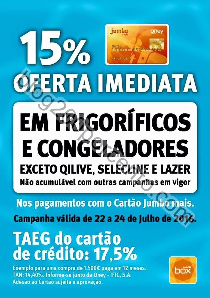15% desconto JUMBO - BOX Promoções de 22 a 24 ju