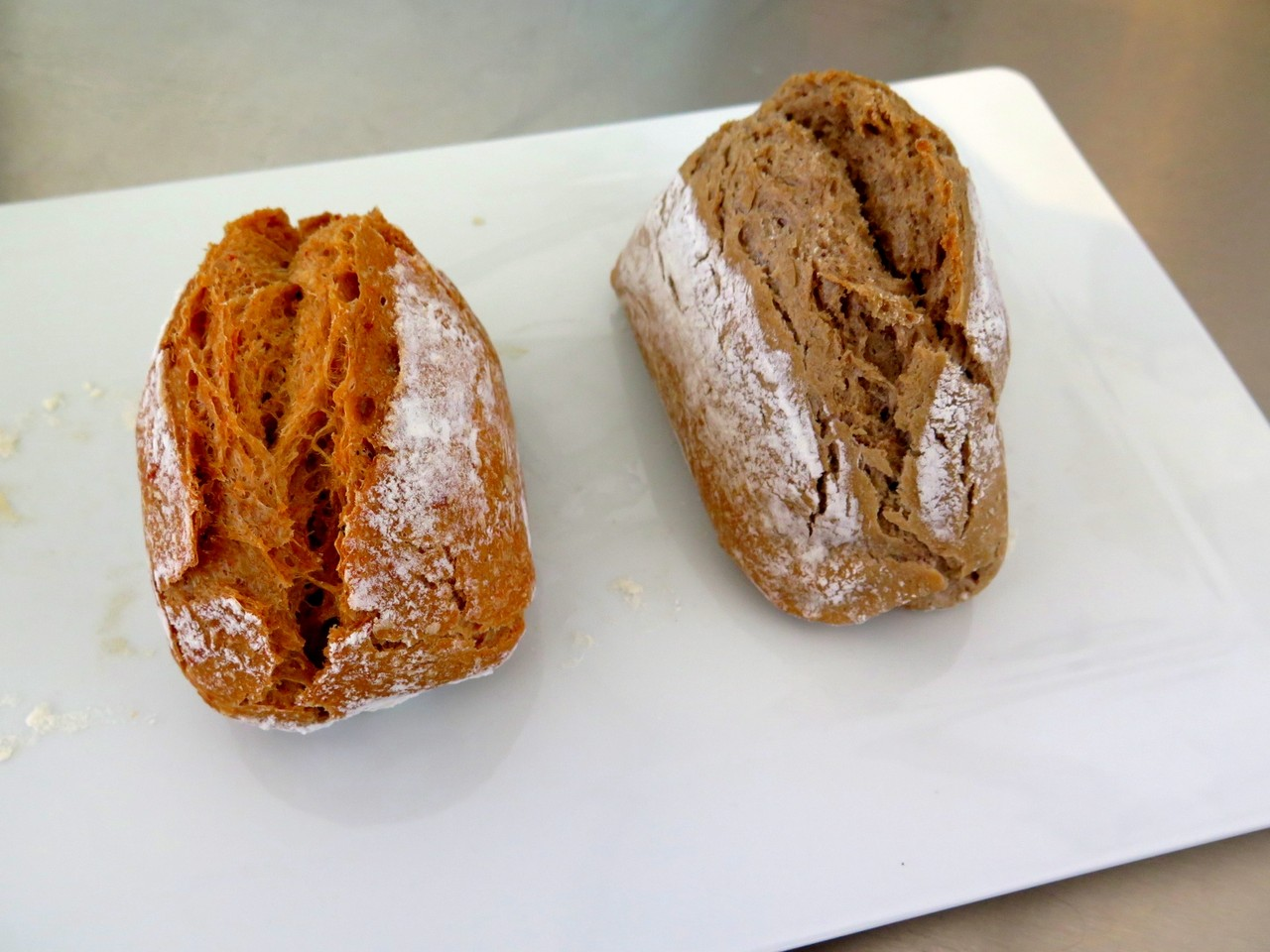 Pão de Tomate e Pão de Cogumelos