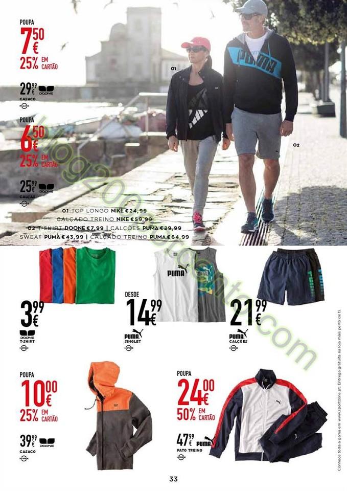 Novo Folheto SPORT ZONE promoções de 28 março a