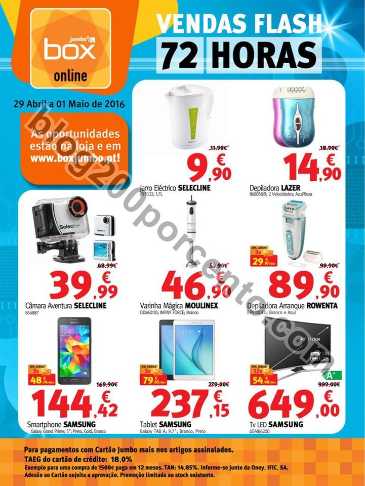 Novo folheto Vendas Flash JUMBO - BOX promoções