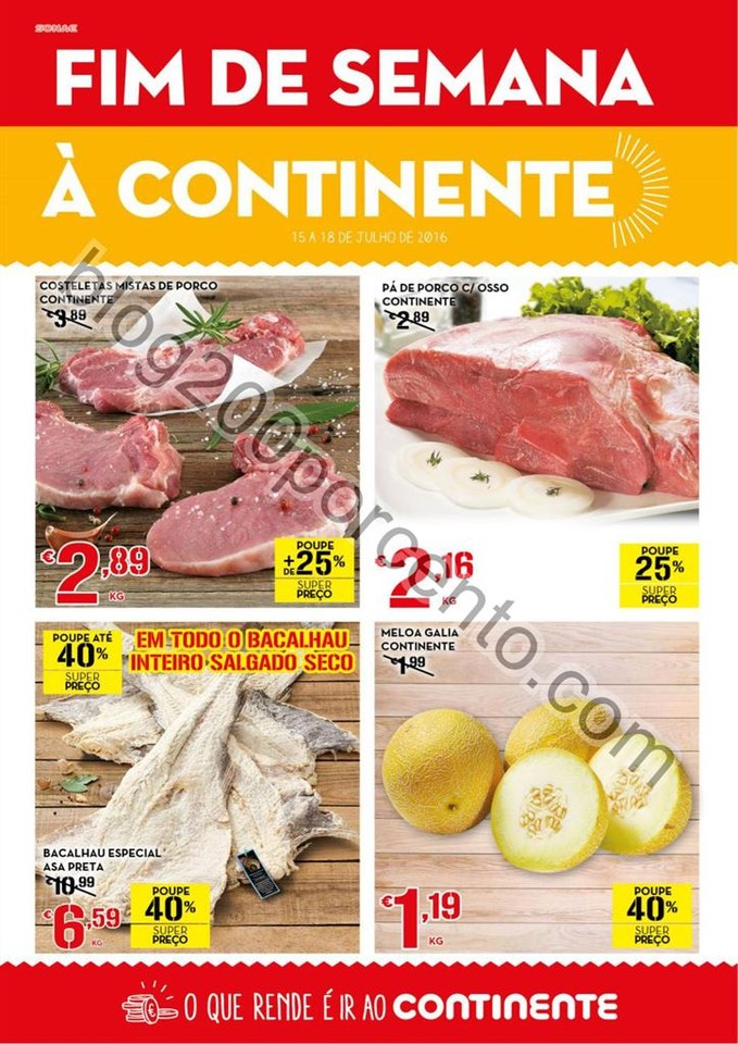 Antevisão Folheto CONTINENTE Fim de Semana de 15
