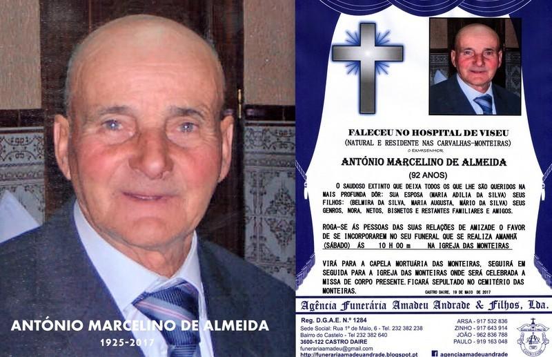 RIP-FOTO DE ANTÓNIO MARCELINO DE ALMEIDA-92 ANOS